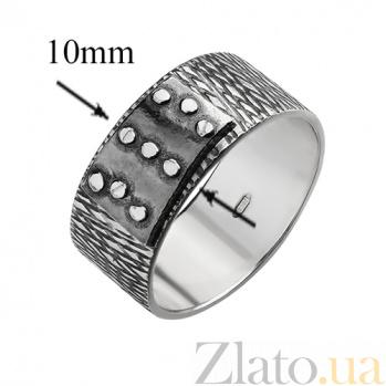 Серебряное чернёное кольцо Болт 000017733
