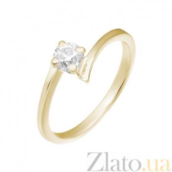 Кольцо в желтом золоте Возлюбленная с бриллиантом 000079303