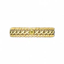Кольцо из желтого золота с сапфиром Центр вечных сил