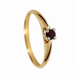 Золотое кольцо с гранатом Марина