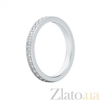 Обручальное кольцо из белого золота с бриллиантами Пространство любви 333