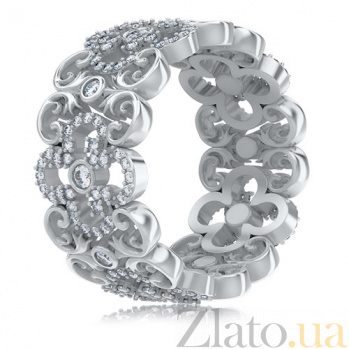 Кольцо из белого золота с бриллиантами Долина грез: Праздник Жизни 3453