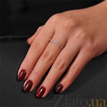 Кольцо из белого золота Энигма с бриллиантами 000001819