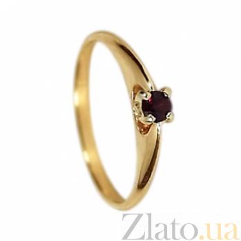 Золотое кольцо с гранатом Марина 000030155