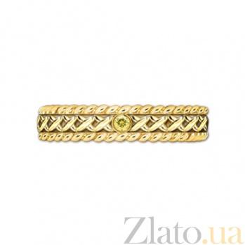Кольцо из желтого золота с сапфиром Центр вечных сил 000029737