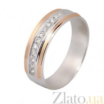 Серебряное кольцо с фианитами и золотой вставкой Элида BGS--668к
