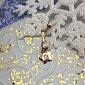 Золотая серьга для пирсинга с фианитами Звездочка 000022716