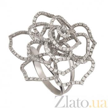 Кольцо из белого золота Эустома с фианитами VLT--ТТТ1108
