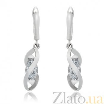 Серебряные серьги Бурдж- Халифа 10030016