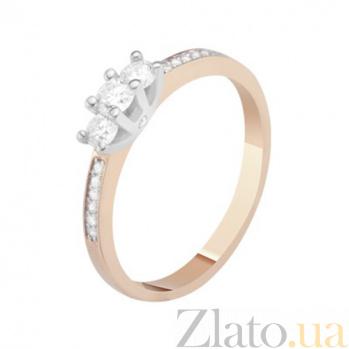 Золотое кольцо с бриллиантами Ленора KBL--К1087/комб/брил
