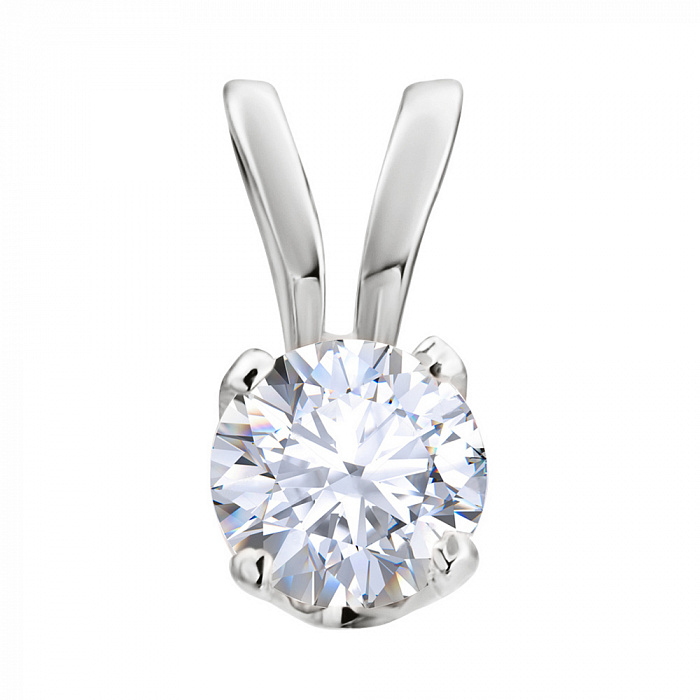 Кулон из белого золота с бриллиантом 000005556 P0475/A03В01F02C01K02