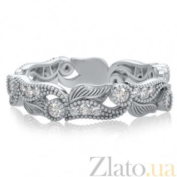 Кольцо из белого золота с бриллиантами Долина грез: Роса на цветах  383