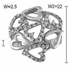 Кольцо Симона из белого золота с бриллиантами