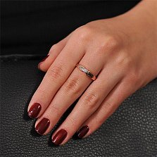 Золотое кольцо  с бриллиантом След кометы