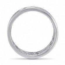 Золотое обручальное кольцо Объятия любви в белом цвете с фианитами