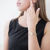 Золотой браслет Французский шик с фианитами в стиле Тиффани