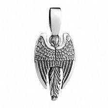 Серебряная подвеска с эмалью Ангел Хранитель