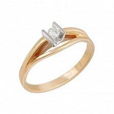 Золотое кольцо Эпоха любви с бриллиантом