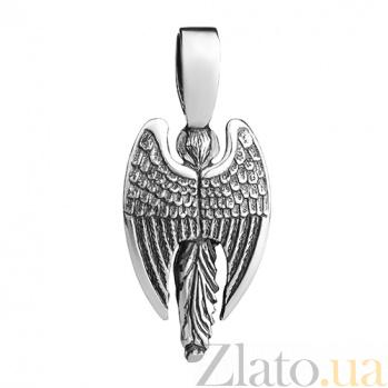 Серебряная подвеска с эмалью Ангел Хранитель 000017330