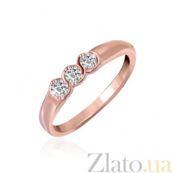 Серебряное кольцо с цирконием Альвина 000028386