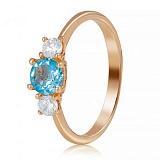 Золотое кольцо с топазом Повелительница морских глубин