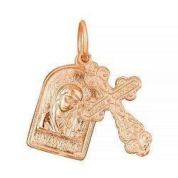 Серебряный крестик с ладанкой Высшая любовь с позолотой 000028630