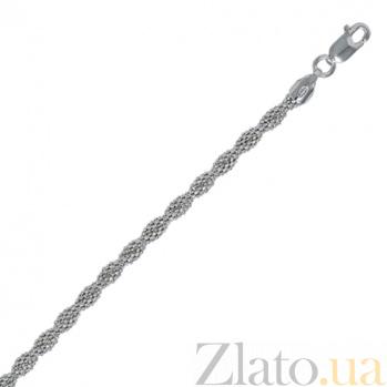 Серебряный браслет Серенада с родированием, 18 см 000027410