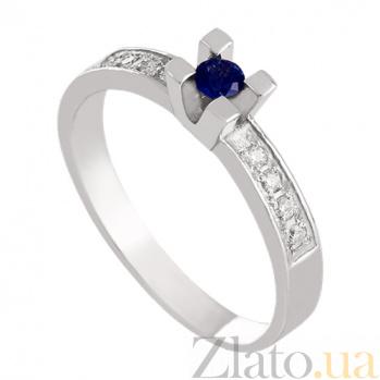 Золотое кольцо с сапфиром и бриллиантами Опера VLN--122-724*