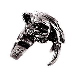 Кольцо из серебра Smilodon с чернением 000091435