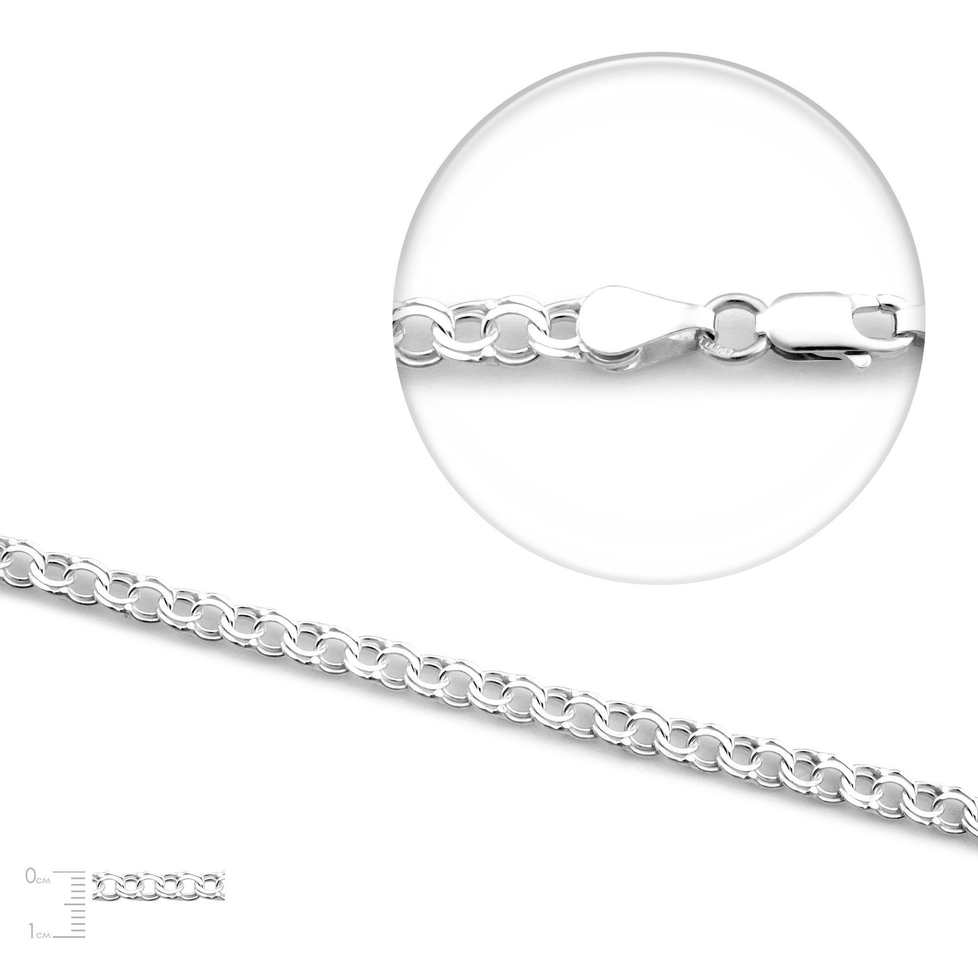 Серебряная цепочка Монреаль, 4,5 мм