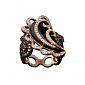 Золотое кольцо с раухтопазом и бриллиантами Виконтесса KBL--К5008/крас/раух
