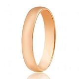 Золотое обручальное кольцо Классика