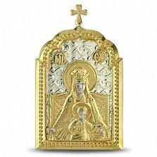 Икона Божьей Матери Державной с позолотой