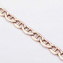 Золотой браслет Динар в плетении барли