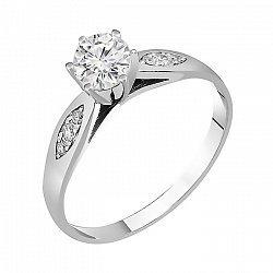 Кольцо из белого золота с фианитами 000011275