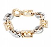 Золотой браслет в комбинированном цвете Джазмайн