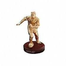 Бронзовая скульптура Футболист полностью в позолоте на мраморной подставке