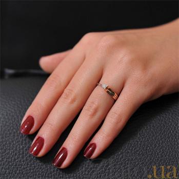Золотое кольцо с бриллиантом Музыка ветра EDM--КД7407