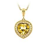 Золотое колье с цитрином и бриллиантами Любимая