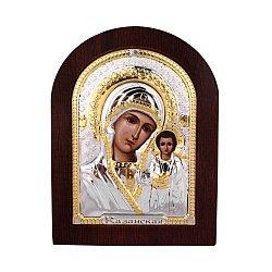 Серебряная икона Божией Матери Казанская 000140108