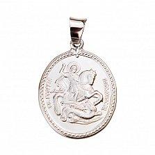 Ладанка из серебра Георгий Победоносец