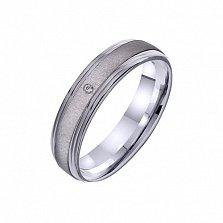 Золотое обручальное кольцо Звезда счастья с фианитом