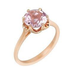 Золотое кольцо с аметистом и бриллиантами 000102201