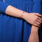 Шелковый браслет Ангелочек с серебряной вставкой