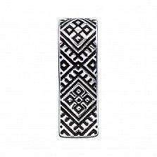 Серебряный кулон с черной эмалью 000133726