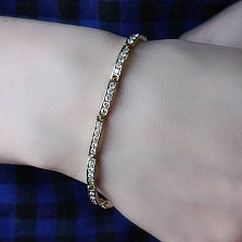 Браслет из жёлтого золота Онтарис с бриллиантами
