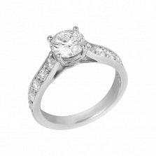 Кольцо из белого золота Мерилин с бриллиантами