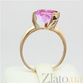 Золотое кольцо с аметистом Клэр 000029217