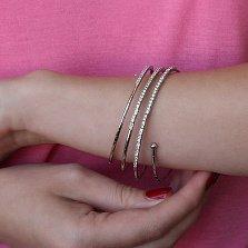 Золотой спиральный браслет Ханна с бриллиантами