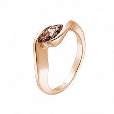 Кольцо в красном золоте Маркиза с бриллиантом